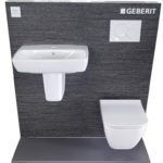 SQURARE RIMFREE WC + E100 SQUARE WASHBASIN