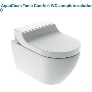Geberit AquaClean Tuma Comfort WALL HUNG (SEAT AND COVER)