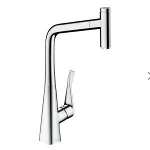 Metris Select M71 Single lever kitchen mixer pull-out spout 14884000