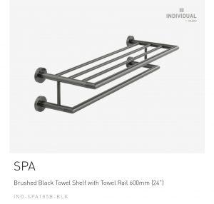 Brushed-Black-Towel-Shelf-with-Towel-Rail-600mm-24-IND-SFA185B-BLK