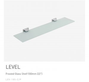 LEVEL-Frosted-Glass-Shelf-550mm-22-LEV-185-CP