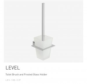 LEVEL-Toilet-Brush-and-Frosted-Glass-Holder-LEV-188-CP